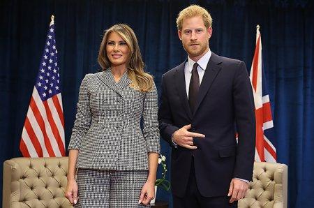 Первая встреча Мелании Трамп и принца Гарри