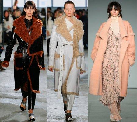 Модные зимние дубленки – 2018