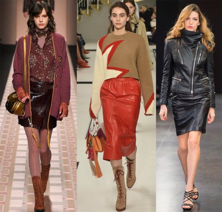 Модные кожаные юбки – 2018