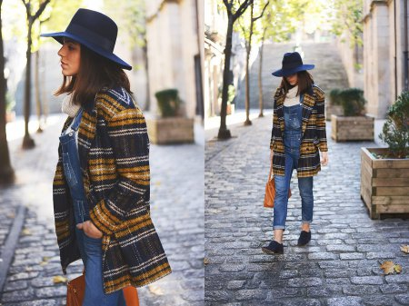 Модные женские пальто в клетку