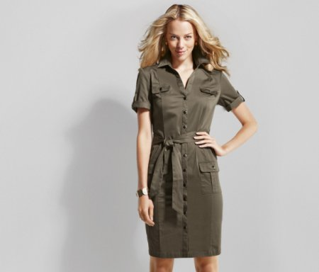 Модное платье-халат