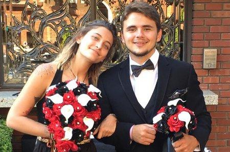 Пэрис и Принс Джексон на свадьбе родственников