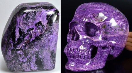 Фиолетовый камень чароит: кому подходит?