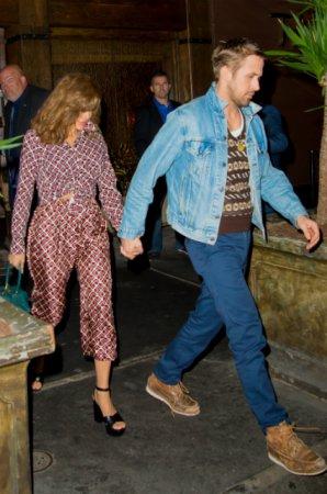 Ева Мендес на романтическом вечере с Райаном Гослингом