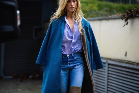 Синие пальто: с чем носить?