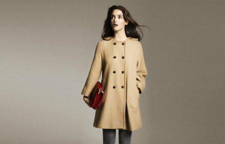 Модные пальто без воротника