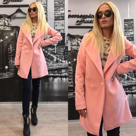 Розовое пальто: с чем носить?
