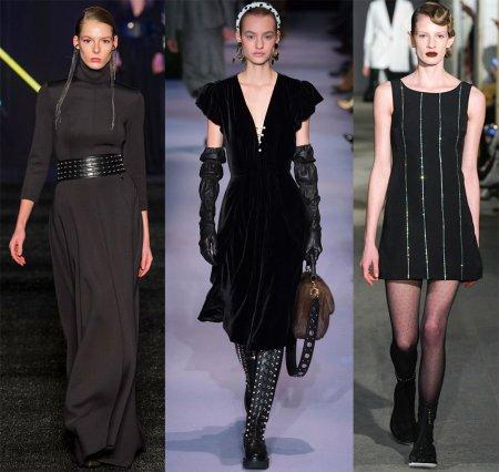 Красивые черные платья: модные тенденции 2018