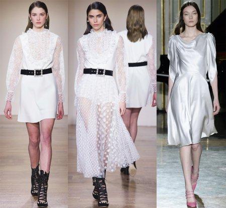 Красивые белые платья: модные тенденции 2018