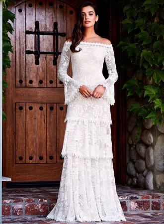 Свадебные платья Tadashi Shoji сезона осень-зима 2018-2019