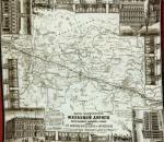 В Череповце презентуют сувенирный платок XIX века с изображением карты железных дорог