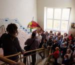 Столовую Женской гуманитарной гимназии Череповца украсило мозаичное панно