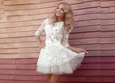 Короткие свадебные платья: модные тенденции – 2018