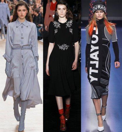 Стильные зимние повседневные платья 2018