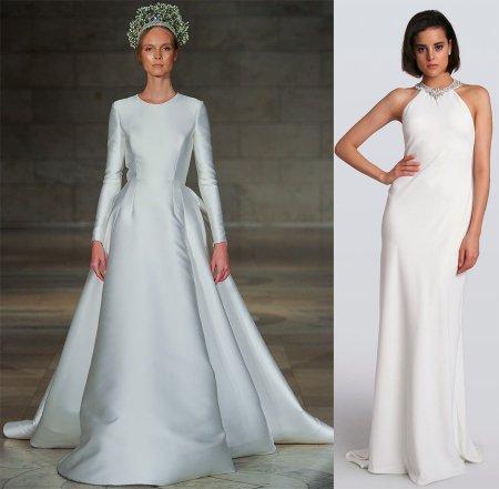 Строгие свадебные платья 2018-2019