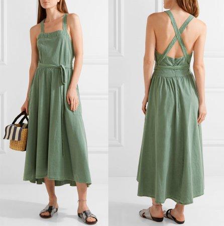 Модное платье-фартук 2018