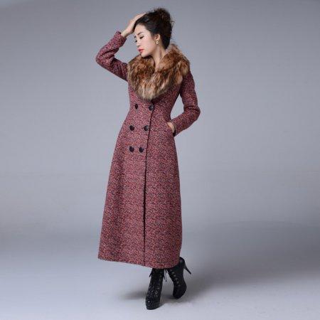 Модные кашемировые пальто с меховым воротником