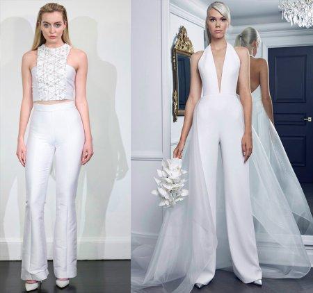 Свадебные комбинезоны и костюмы – 2018
