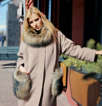 Модные пальто из норки