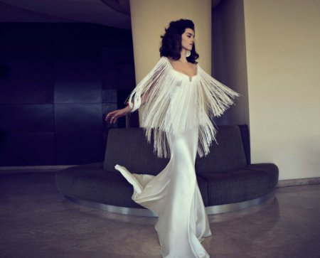 Модные платья с бахромой – 2018