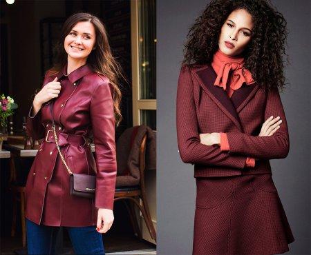Одежда цвета марсала: с чем сочетать?