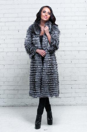 Модные пальто из чернобурки