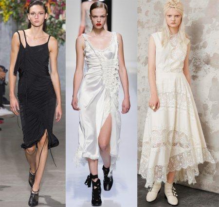 Модные платья в бельевом стиле – 2018