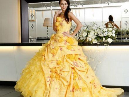 Желтые платья на Новый год – 2018