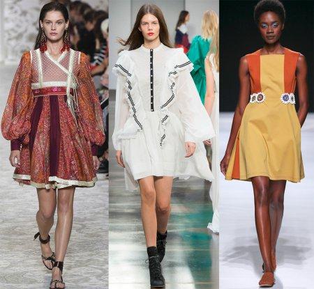 Модные платья свободного кроя – 2018