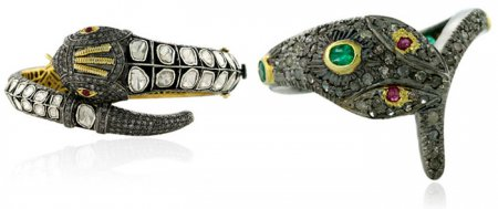 Модные украшениями со змеями