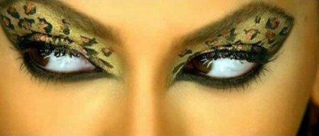 Леопардовый макияж глаз