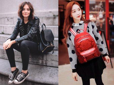 Модные и недорогие кожаные рюкзаки